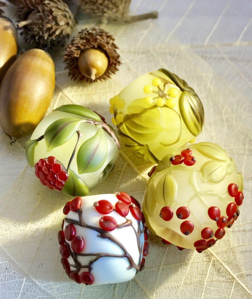 とんぼ玉&モダン伝統工芸品 komorebiLampwork Beads; とんぼ玉